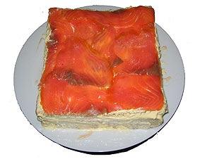 pastel de esparragos